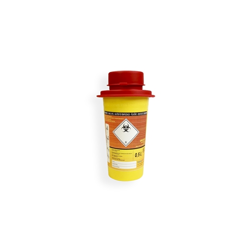 Safebox Naaldencontainer MINI 0,5 ltr.  Geel