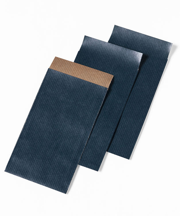 Papieren zakjes 7x13cm blauw for Papieren kraft zakjes