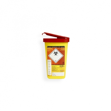 Safebox Naaldencontainer MINI 0,25 ltr.  Geel