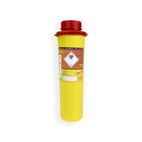 Safebox Naaldencontainer MINI 1 ltr.  Geel
