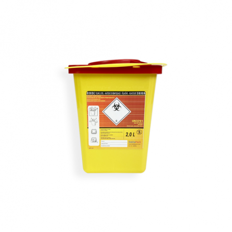 Safebox Naaldencontainer Superior 2 ltr.  Geel